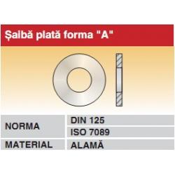 Saiba plata forma A DIN125 ISO7089 alama