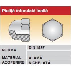 Piulita infundata inalta alama nichelata DIN1587