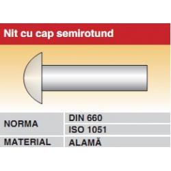 Nit cu cap semirotund DIN660 ISO1051 alama