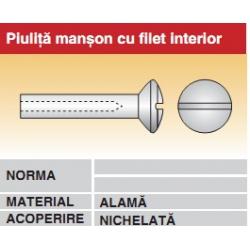 Piulita manson cu filet interior alama nichelata