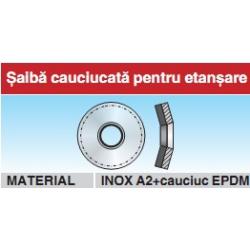 Saiba cauciucata pentru etansare inox A2 si cauciuc EPDM