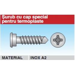 Surub cu cap special pentru termoplaste inox A2