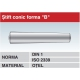 Stift conic forma B- DIN 1 ISO 2339