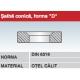 Saiba conica forma D otel calit DIN6319