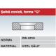 Saiba conica forma G otel calit DIN6319