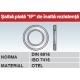 Saiba plata IP de inalta rezistenta DIN6916 ISO7416