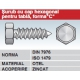 Surub cu cap hexagonal pentru tabla forma C otel zincat DIN7976 ISO ISO1479