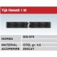 Tija filetata 1m otel zincat DIN975