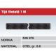 Tija filetata 1M otel gr 8.8 DIN975