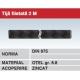 Tija filetata 2M otel zincat gr 8.8 DIN975